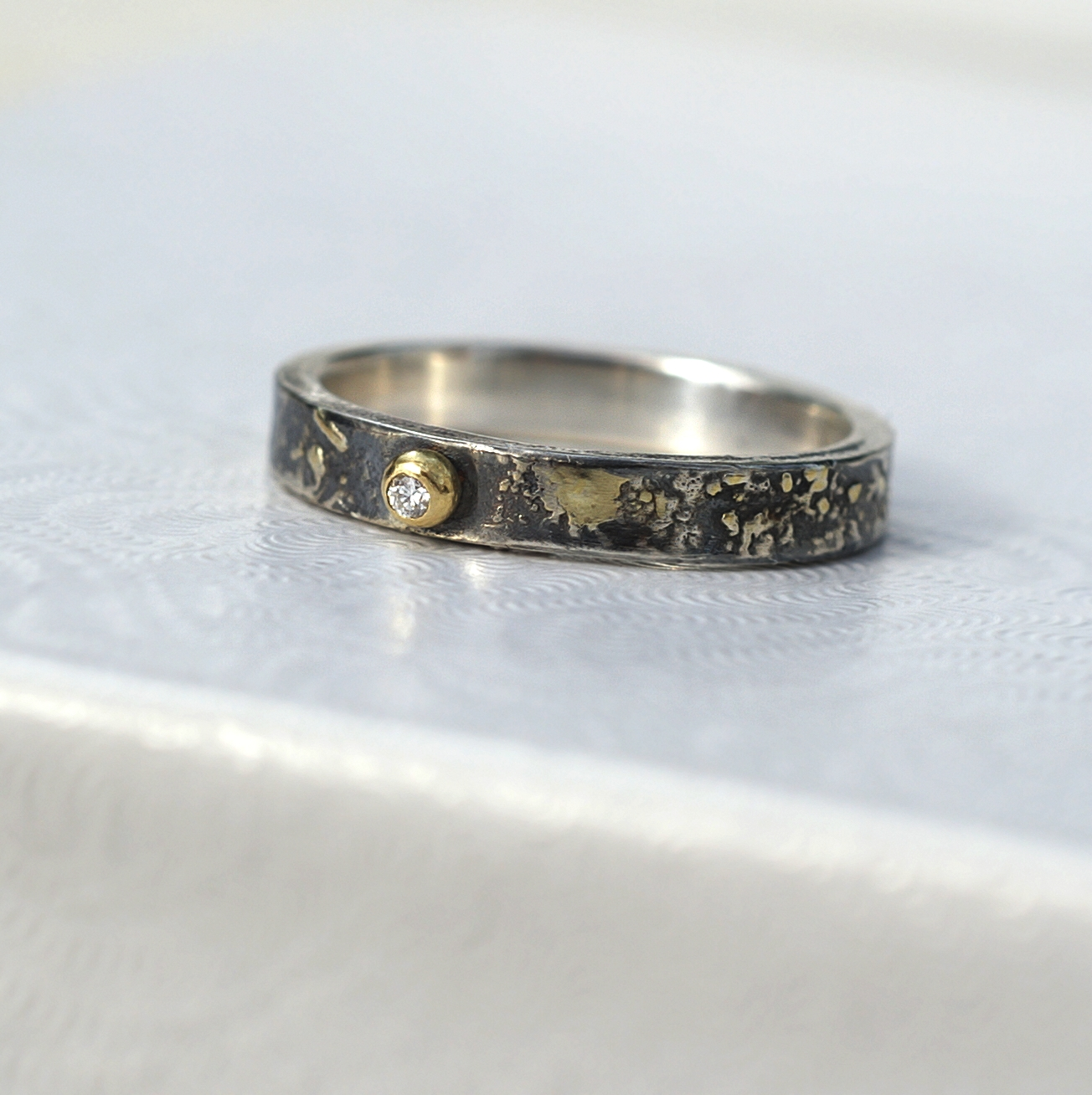 silver of size diamond herkimer rings ring lovely oxidized engagement