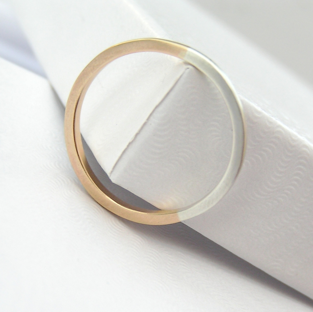 golden ratio 1 5 mm 9k gold silver thin wedding bands Wedding bands made of 9ct yellow