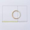 Golden Ratio - 1.5 mm 9k Gold + Silver. Wedding bands made of 9ct yellow gold and silver in golden ratio. Perfect rings for math lovers, geeks, scientists or artists.