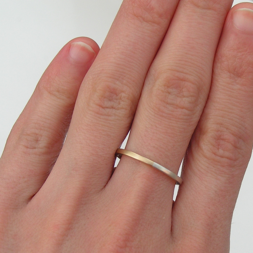 Golden Ratio 1 5 Mm 9k Gold Silver Wedding Bands Made Of 9ct Yellow