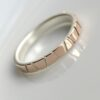 Lines in Rose Gold: made from two layers - sterling silver base and thin layer of solid 14k rose gold. Gold is sawed through to expose silver beneath.