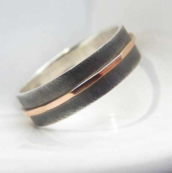 Textured – 6 mm Rose Gold