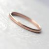 Dainty Rose Gold Wedding Band