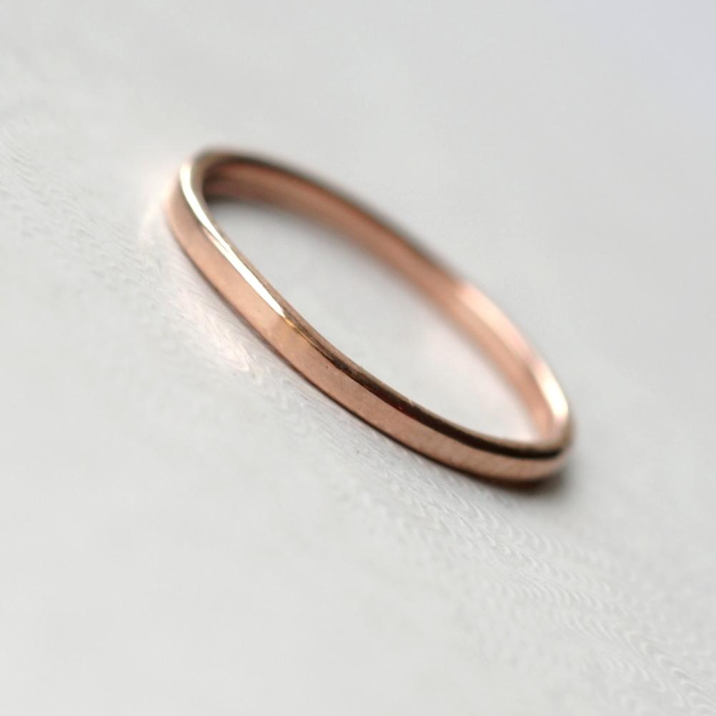 dainty 9k rose gold wedding band rose gold wedding rings Thin lightweight Dainty Rose Gold Wedding Band Simple dainty rose gold wedding ring