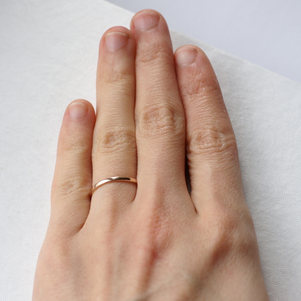 lilia jewellery by thin nash wedding bands band ring product hammered gold original slim in liliandesigns