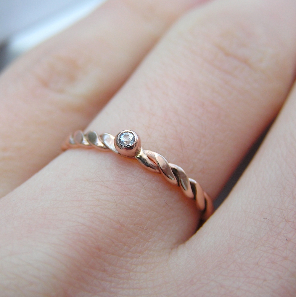 Dainty White Sapphire Rose Gold Ring: Simple, Elegant,fortable To  Wear And Affordable