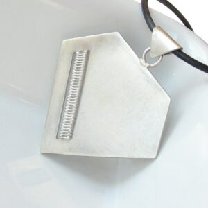 Diamond: Sterling silver geometric and minimalist necklace.