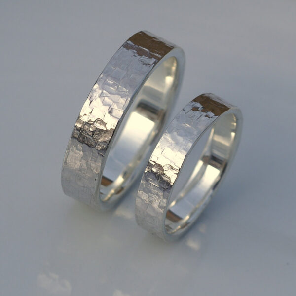 Rock Texture Rings Set