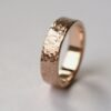 Rock Texture Rose Gold Ring
