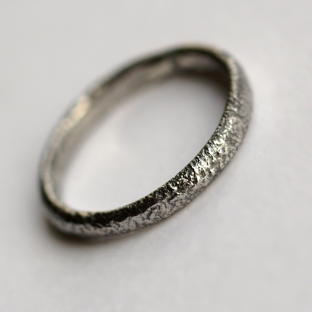 rustic oval wedding band this ring is made with oval shaped wire textured with reticulation - Rustic Wedding Rings