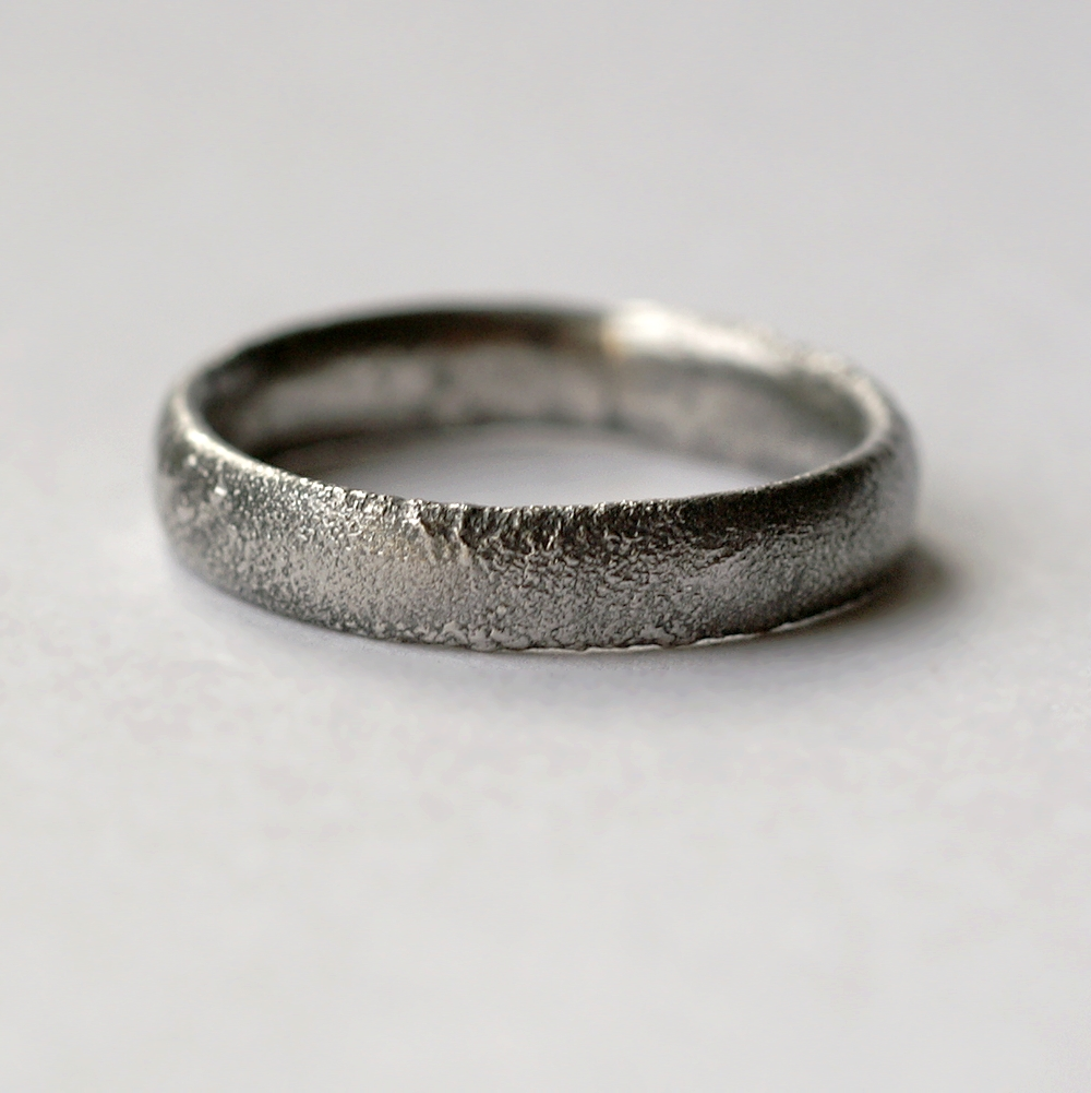 Rustic Oval Men S Wedding Band This Ring Is Made With Shaped Wire Textured