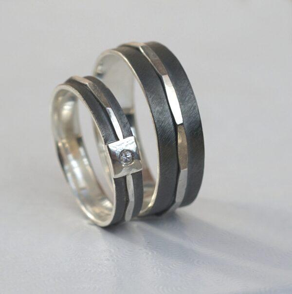 Silver Textured – 4 mm + 6 mm Set