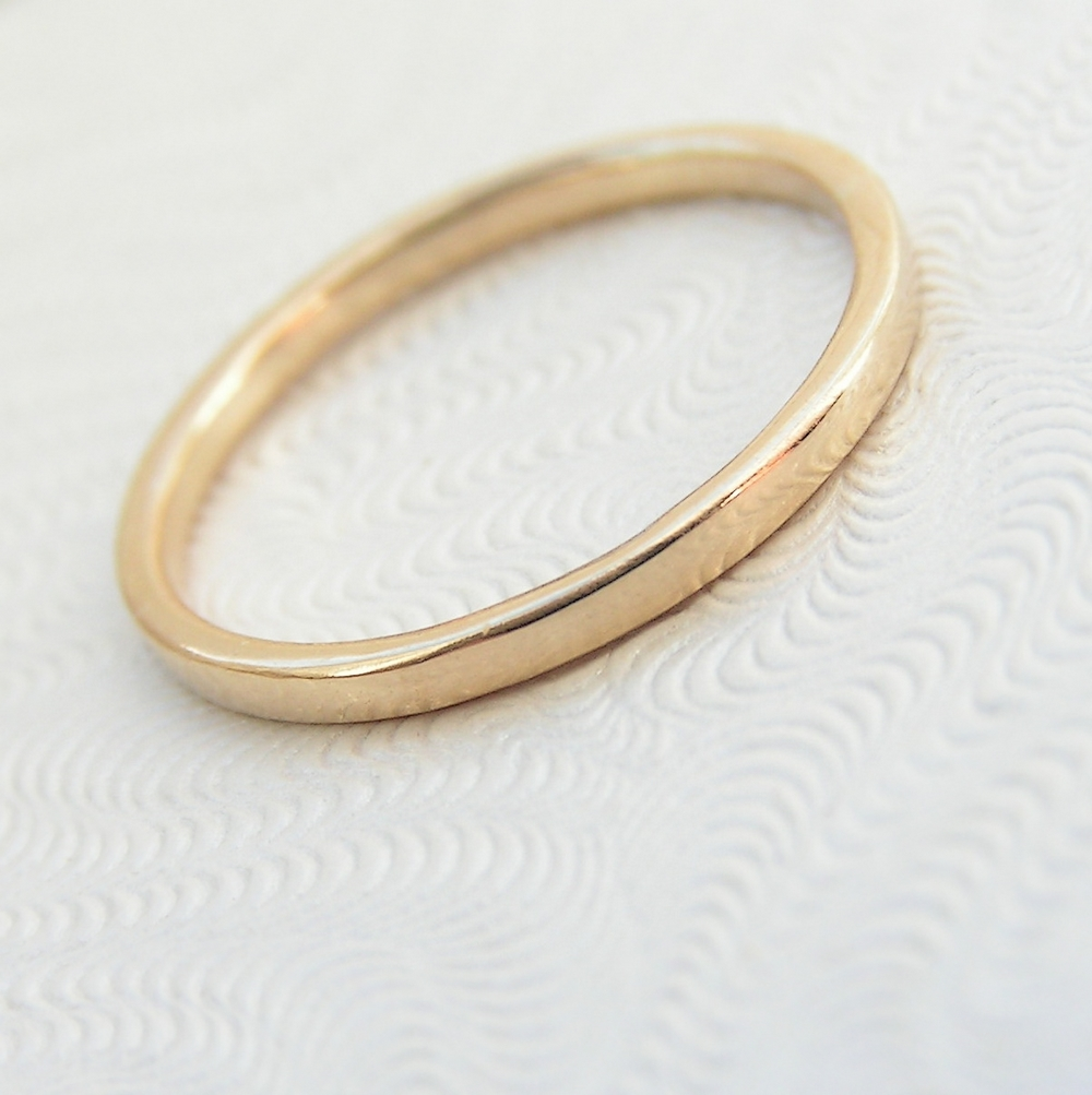 Skinny 9k Yellow Gold Band