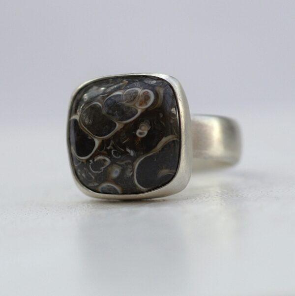 Turritella Fossil Ring