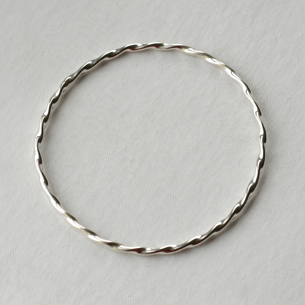 Perfect Gift For Twisted Silver Bracelet Simple Bangle Timeless And Elegant