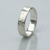 Rock Texture 9k White Gold Ring