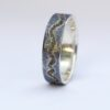 River Ring - Sterling Silver and 18k Gold: River ring inspired by wild landscape.