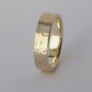 Rock Texture 9k Yellow Gold Ring