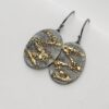 Gold Chaos Zigzags - 18k Gold and Oxidized Sterling Silver One of a Kind Earrings