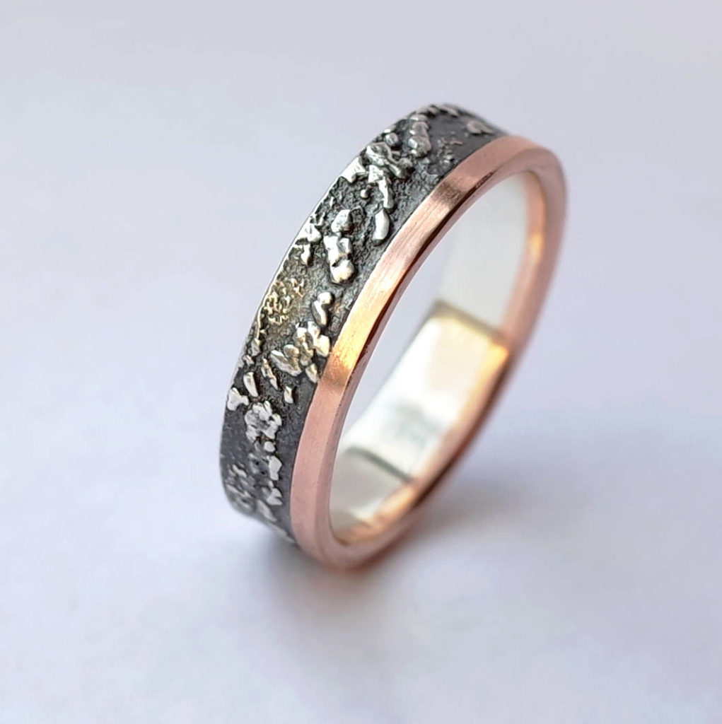 Silver Chaos with Rose Gold Edge