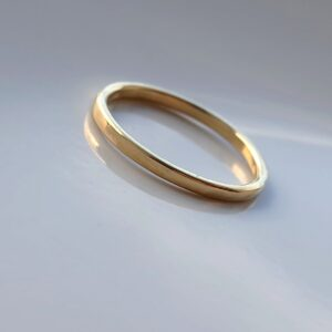 Thin 18k Yellow Gold Wedding Band