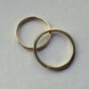 Thin 18k Yellow Gold Wedding Bands - Simple dainty yellow gold wedding rings made of solid 18k yellow gold, shiny finished.