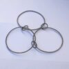 Interlocking Bangle Bracelet - made of three big circles and three small circles interlocked together in the way that they can be folded together to one bangle where all parts can spin and move.
