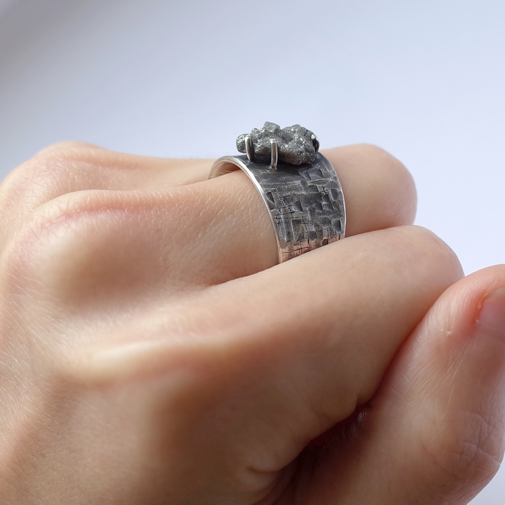 huge rough diamond ring sterling silver mens engagement ring with a huge rough uncut diamond - Huge Wedding Ring