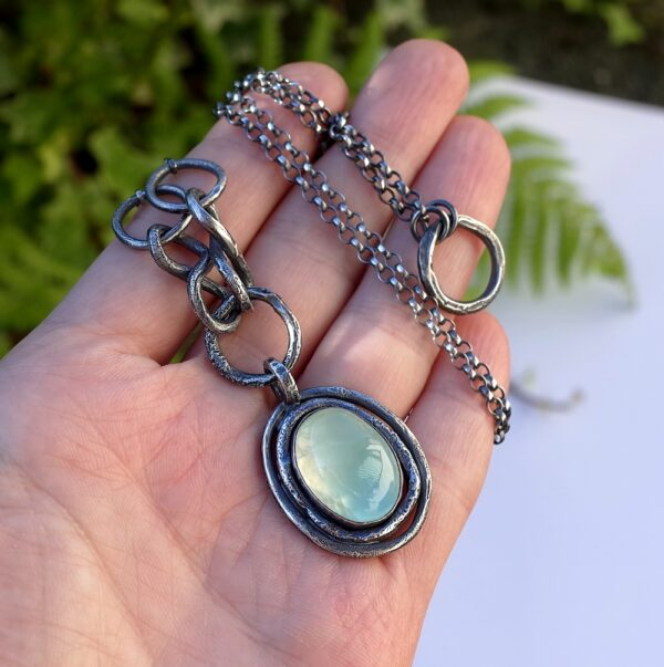 Rustic Prehnite Necklace