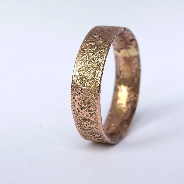 Rustic Gold Engagement Ring in 9k Rose Gold