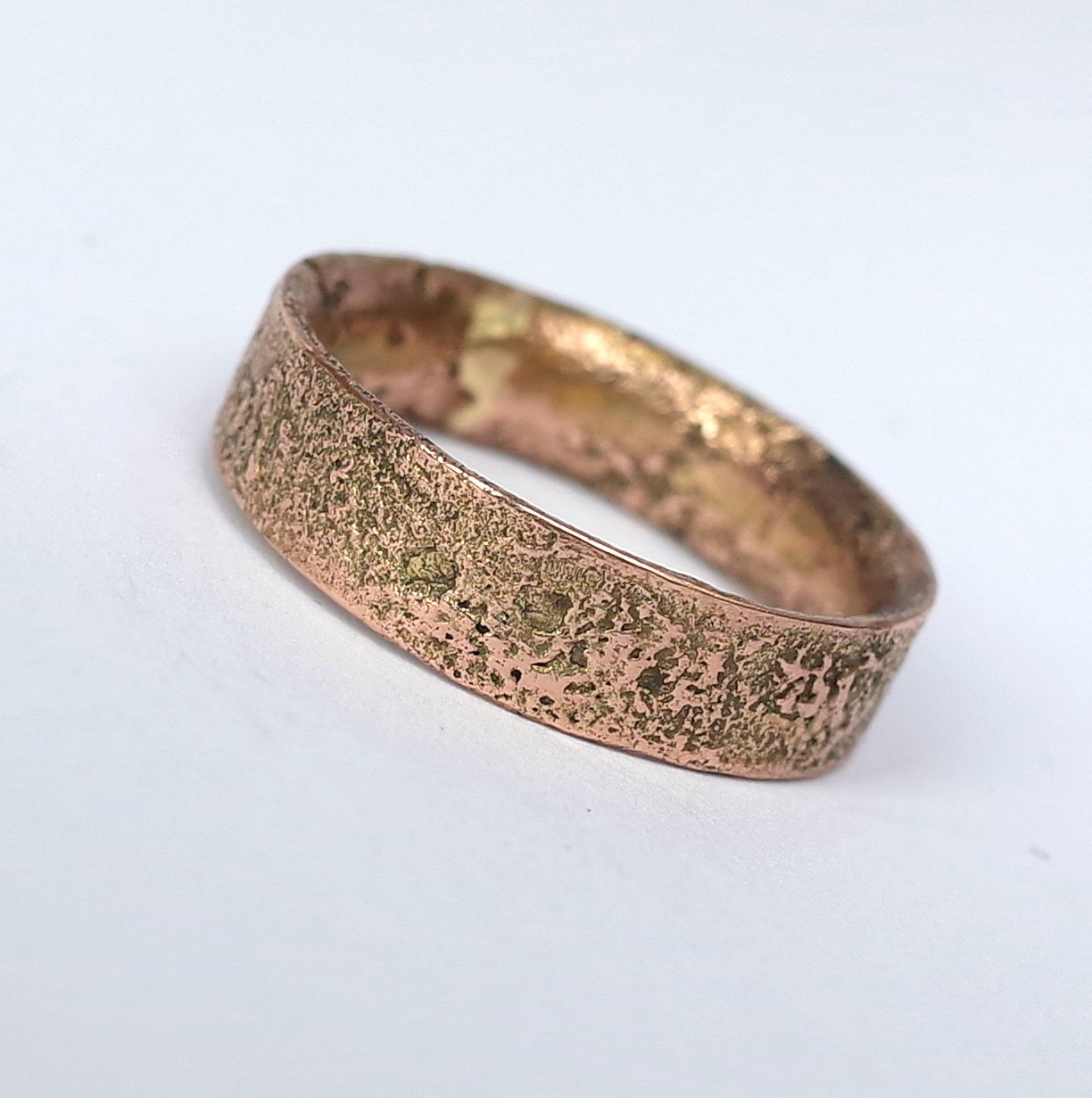 ad41687cff602 Rustic Gold Engagement Ring in 9k Rose Gold
