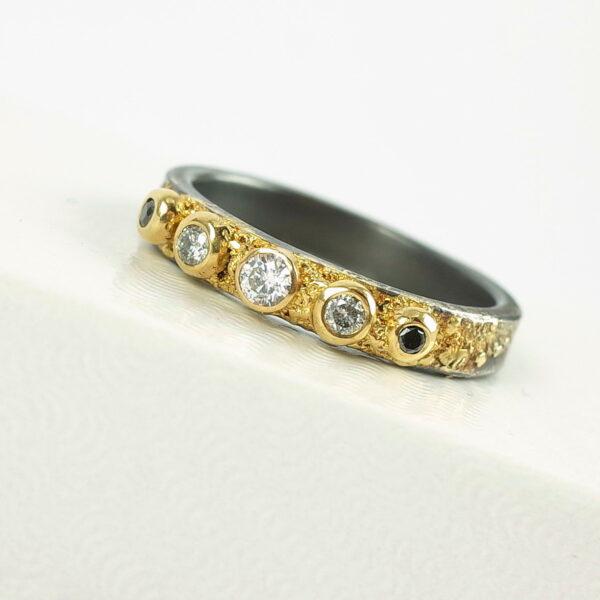 Five Stone Diamond Engagement Ring