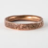 Rustic Gold Engagement Ring for Women in 9k Rose Gold - Really unique wedding band or engagement ring for women in rustic style 4mm wide.