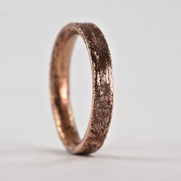Rustic Gold Engagement Ring for Women in 9k Rose Gold